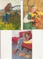 Lot 3 Cartes Postales Vintage - Portraits