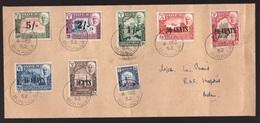 Aden Quaiti Mukhalla, 1952 Multifranked Cover   -AQ87 - Aden (1854-1963)