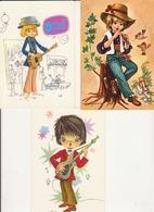 """Lot 3 Cartes Postales """"enfants Musiciens"""" - Portraits"""