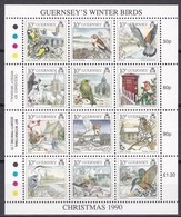 Guernsey 1990 - Mi.Nr. 501 - 512 Kleinbogen - Postfrisch MNH - Tiere Animals Vögel Birds - Guernsey