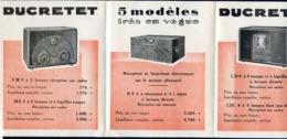 ANCIEN DEPLIANT PUBLICITE REF300520, LA VOIX DU MONDE DUCRETET, Tsf-radio - Publicidad