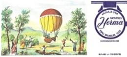 BUVARD  Montgolfière  Marque  Montre  HERMA  MÉDAILLE  D ' OR  EXPO  BRUXELLES  1958 - Blotters