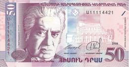 ARMÉNIE - 50 Dram 1998 - UNC - Armenia