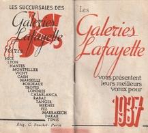 Petit Calendrier Les Galeries Lafayette 1937 - Calendars
