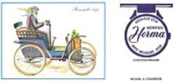 BUVARD  Automobile  RENAULT  1898, Marque  Montres  HERMA  MÉDAILLE  D ' OR  EXPO  BRUXELLES  1958 - Vloeipapier