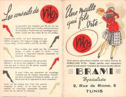 20-7953 : CALENDRIER ANNEE 1950. LES BAS VITOS. BRAMI SPECIALISTE  A TUNIS. TUNISIE. - Calendriers