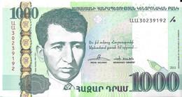 ARMÉNIE - 1000 Dram 2011 - UNC - Arménie