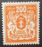 N°2132H BRIEFMARKE DEUTSCHES REICH DANZIG NEU OHNE GUMMI - Dantzig