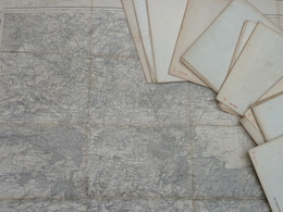 Carte 1/80 000 Etat-Major Coupure 47 EVREUX - Révisée En 1889 - Topographical Maps