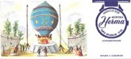BUVARD  Montgolfière  Bleu, Marque  Montres  HERMA  MÉDAILLE  D ' OR  EXPO  BRUXELLES  1958 - Vloeipapier