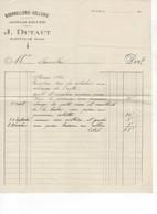 595 FACTURE J. DUTAUT  SELLERIE BOURELLERIE  Articles D'écurie     St CLAR  32 GERS - Agriculture