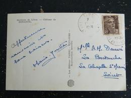 FUMEL - LOT ET GARONNE - CACHET ROND MANUEL SUR MARIANNE BRIAT - ENVIRONS DE LIBOS CHATEAU DE BONAGUIL - Postmark Collection (Covers)