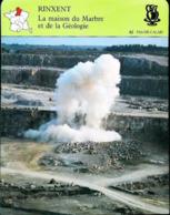 RINXENT  - Carrière De Marbre Boulonnais - Photo Tir D'explosifs  - FICHE GEOGRAPHIQUE Larousse Laffont - Autres