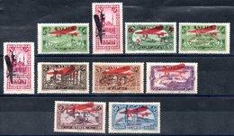 Syrie  Syrien Luftpost Y&T PA 38*, PA 39**, PA 40**, PA 43**, PA 44* - PA 49* - Syrien (1919-1945)