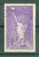 FRANCE - N° 309 Oblitéré - Au Profit Des Réfugiés Politiques. Statue De La Liberté. - Francia