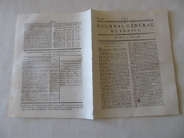 L'OURS MONSTRUEUX DU CANTON DE BERNE - JOURNAL GENERAL DE FRANCE 1747. - Zeitungen