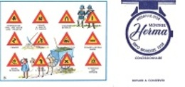 BUVARD  Code De La Route, Panneaux De Circulation, Marque  Montres  HERMA  MÉDAILLE  D ' OR  EXPO  BRUXELLES  1958 - Vloeipapier