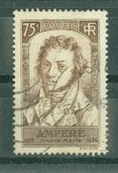 FRANCE - N° 310 Oblitéré - Centenaire De La Mort D'André-Marie Ampère (1775-1836). - Francia