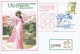 UNIVERSAL EXPO MILANO 2015.  Pavillon Du VIETNAM,  Lettre Du Pavillon Vietnam, Avec Timbre Vietnamien (RARE) - 2015 – Milano (Italia)