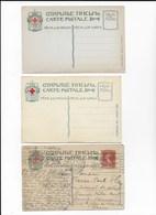 CPA Russia Russie 3 Cartes De La Croix Rouge Russe - Cruz Roja