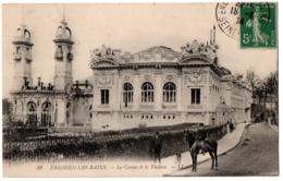 CPA 95 - ENGHIEN (Val D'Oise) - 49. Le Casino Et Le Théâtre (animée, Cavalier) - Enghien Les Bains
