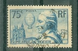 FRANCE - N° 313 Oblitéré - 150° Anniversaire De La Mort De François Pilâtre De Rozier (1756-1785). - Francia