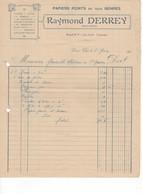 585 FACTURE Raymond DERREY  Papiers Peints En Tous Genre  Saint CLAR GERS 32 - France