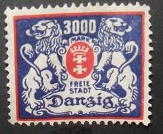 N°2142H BRIEFMARKE DEUTSCHES REICH DANZIG NEU OHNE GUMMI - Dantzig