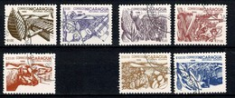 Nicaragua 1986  Yv. 1411/15, 1417/18, Scott 1431/35, 1437/38, Mi 2668/72, 2674/75 Reforma Agraria - Nicaragua