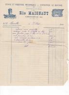 583 FACTURE MAIGNAUT Elie  Sciage, Rabotage Mécanique, Bois, Battage    La Mouline Saint CLAR GERS 32 - France