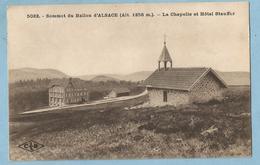 TH0741  CPA  Sommet Du BALLON D'ALSACE (Alt. 1256 M)  La Chapelle Et Hôtel Stauffer  ++++ - France
