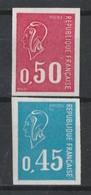 France N°1663/1664** Non Dentelé 1971 - No Dentado