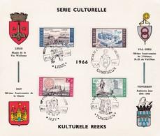 Feuillet 1385 à 1388 Culturel Liège Val-Dieu Tongeren Huy - Panes