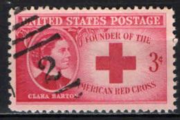 STATI UNITI - 1948 - CLARA BARTON - FONDATRICE DELLA CROCE ROSSA AMERICANA - USATO - Gebruikt