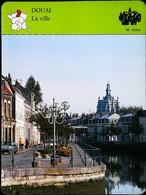 DOUAI  - La Ville   - Photo  Quai De La Scarpe  - FICHE GEOGRAPHIQUE - Ed. Larousse-Laffont - Géographie