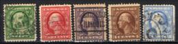 STATI UNITI - 1908 - BENJAMIN FRANKLIN E GEORGE WASHINGTON - FIL. USP - TRATTO SEMPLICE - USATI - Used Stamps