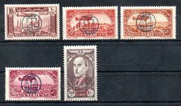 Syrie  Syrien Luftpost Y&T PA 107* - PA 111* - Syrien (1919-1945)