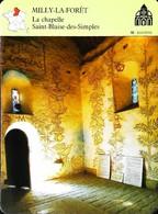 MILLY LA FORET - La Chapelle Saint Blaise Des Simples - Photo Intérieur - FICHE GEOGRAPHIQUE - Ed. Larousse-Laffont - Géographie