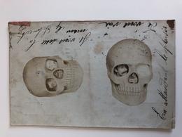 Foto Photo Ak Illusion Homme Crâne Petit Crâne En Attandant Le Plaisir 1904 - Photographs