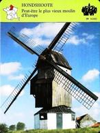 """HONDSHOOTE  (59 NORD) - Vieux Moulin  - Photo Du """" Noord-Meulen"""" - FICHE GEOGRAPHIQUE - Ed. Larousse-Laffont - Géographie"""