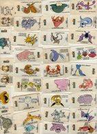 VIGNETTES  AUTOCOLLANTES . DUNKIN .Bubble Gum . Série POKEMON..  NINTENDO .  LOT DE 110  VIGNETTES - Stickers