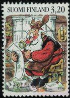 Finlande 1996 Oblitéré Used Père Noël Lisant Les Lettres Des Enfants SU - Finnland