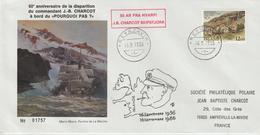 Islande 1986 Lettre Pour Le France 50ème Anniversaire De La Disparition De JB Charcot - Lettres & Documents