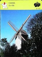 CASSEL  (59 NORD) - Vieux Moulin  - Photo  - FICHE GEOGRAPHIQUE - Ed. Larousse-Laffont - Géographie