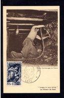 """"""" LE MINEUR + JDT 1949 """" Sur Carte Maximum TAMPONNEE Par Les MAXIMAPHILES. N° YT 825. Parfait état. Voir Les 2 Scans. CM - 1940-49"""