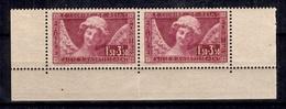 France Sourire De Reims YT N° 256 En Paire Neufs ** MNH. TB. A Saisir! - Unused Stamps