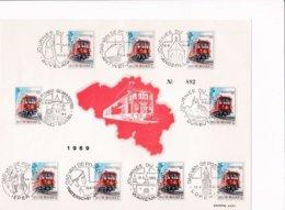 Feuillet Numéroté 1488 Train Postal - Panes