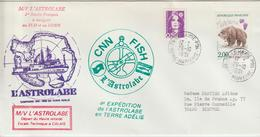 France 1991 Le Havre Campagne Du Navire Polaire Astrolabe - Postmark Collection (Covers)