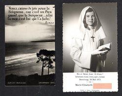 Photo D'une Communiante De 35 DOMLOUP Et Une Image De Souvenir De Communion Eglise St-André 35 Antrain - Personas Anónimos