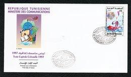 1997- Tunisia - Tunisie -Tunis 97, Cultural Capital - Tunis 97, Capitale Culturelle- FDC - Tunisia